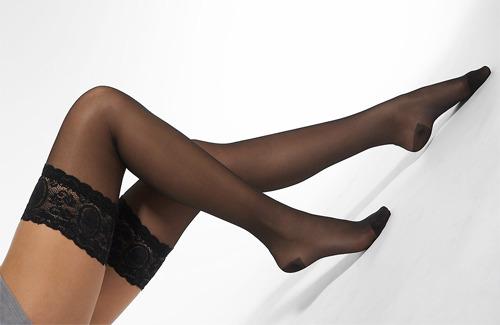 Нейлоновые черные чулки фото 572-566